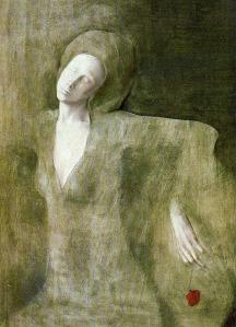 Montserrat Gudiol - Mujer y flor