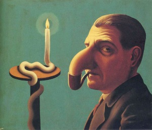 Rene Magritte - Philosopher's lamp (1936)