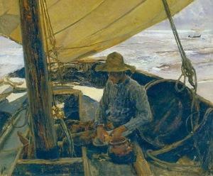 Sorolla - Pelando patatas (1896)