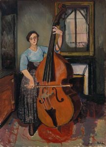 Suzanne Valadon - Mujer con un Contrabajo (1908)