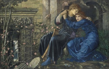 Edward Burne-Jones - Love Among the Ruins (1873)