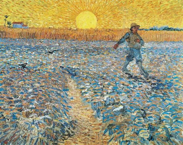 Van Gogh - Sembrador con Sol Poniente (1888)