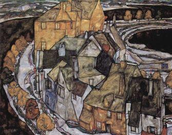Egon Schiele - la casa de la curva (1915)