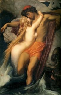 Frederic Leighton - el pescador y la sirena (1858)