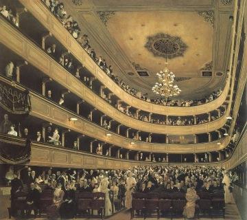 Klimt - Auditorio en el Antiguo Burgtheater de Viena (1888)