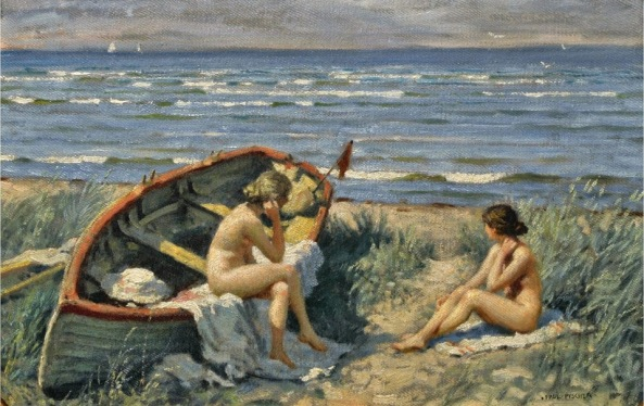 Paul Fischer - The beach at Bastad CP