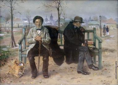Vladimir Makovsky - un optimista y un pesimista (1889)