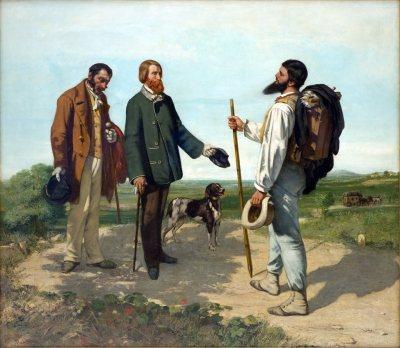 Courbet - La Reunión (1854) Bonjour Monsieur Courbet
