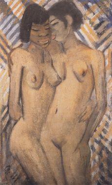 otto-mueller-dos-chicas-negras-1928