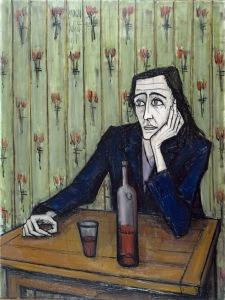 bernard-buffet-femme-au-verre-de-vin-1955