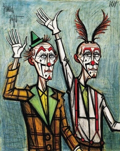 bernard-buffet-two-clowns