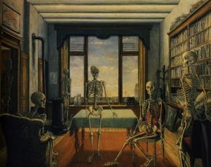 paul-delvaux-esqueletos-en-la-oficina-1944