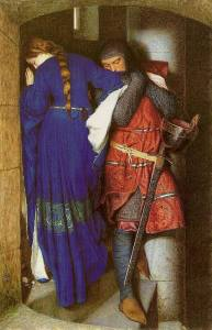 frederick-william-burton-the-meeting-on-turret-stairs-1864