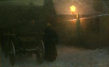 jakub-schikaneder-atardecer-en-invierno-1899
