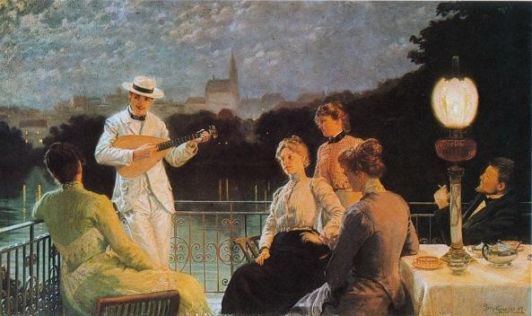 jakub-schikaneder-company-on-the-terrace-1887