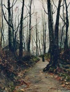 julius-sergius-von-klever-una-dama-caminando-1887
