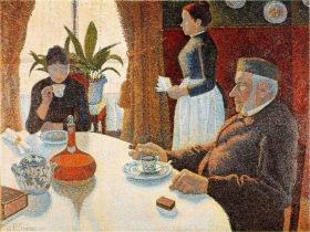paul-signac-el-desayuno-1886