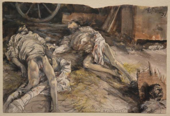 adolph-von-menzel-drei-gefallene-soldaten-1866