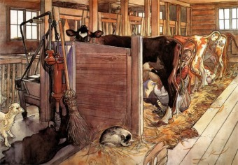 carl-larsson-the-cowshed