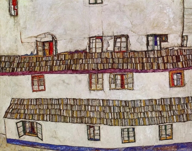 egon-schiele-windows-facade-of-a-house-1914