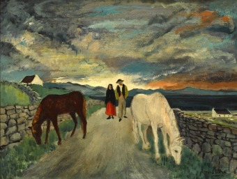 gerard-dillon-west-of-ireland-couple-and-horses