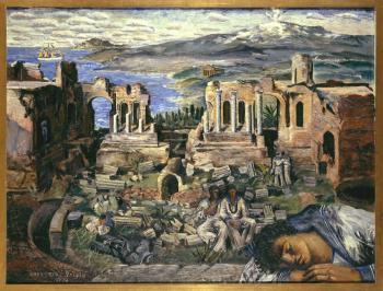 gregorio-prieto-munoz-ruinas-de-taormina-1939
