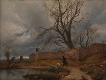julius-von-leypold-vagabundo-en-la-tormenta-1835