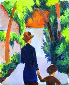 macke-mother-and-child-in-the-park-1914