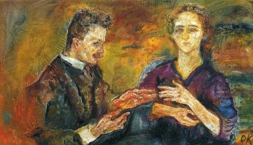 oskar-kokoschka-hans-tietze-and-erica-tietze-1909